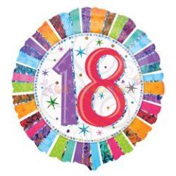Radiant 18-as Születésnapi Fólia Lufi