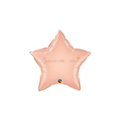 Rózsaarany - Rose Gold Csillag Fólia Lufi