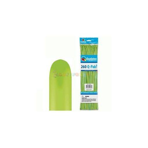 260 Q lime zöld kukac modellező lufi Q-pak 50 db/cs