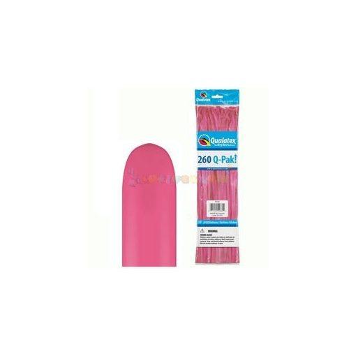 260 Q rózsaszín kukac modellező lufi Q-pak 50 db/cs