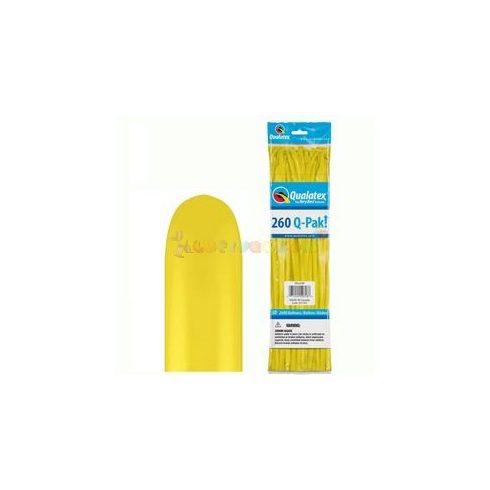260 Q sárga kukac modellező lufi Q-pak 50 db/cs
