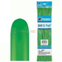 260 Q tavasz zöld kukac modellező lufi Q-pak 50 db/cs