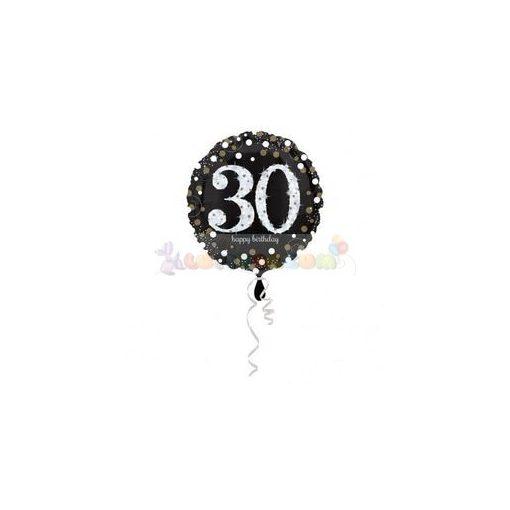 30-as Happy Birthday Sparkling Születésnapi Fólia Lufi