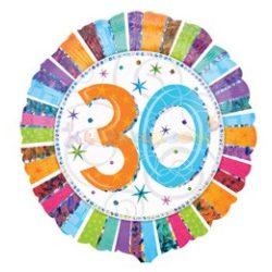 Radiant 30-as Születésnapi Fólia Lufi