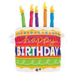 Születésnapi torta fólia lufi
