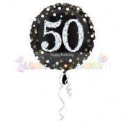 50-es Happy Birthday Sparkling Születésnapi Fólia Lufi