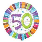 Radiant 50-es Születésnapi Fólia Lufi