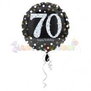 70-es Happy Birthday Sparkling Születésnapi Fólia Lufi