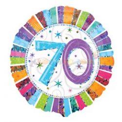 Radiant 70-es Születésnapi Fólia Lufi