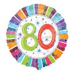 Radiant 80-es Születésnapi Fólia Lufi