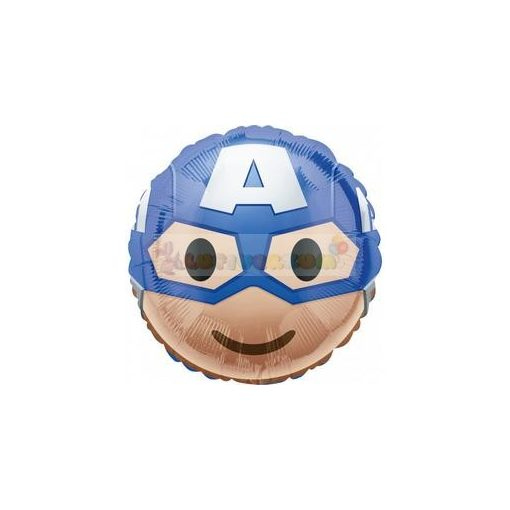 Amerika Kapitány Emoticon Fólia Lufi