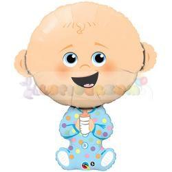 Kisfiú baba fólia lufi babaszületésre 97 cm