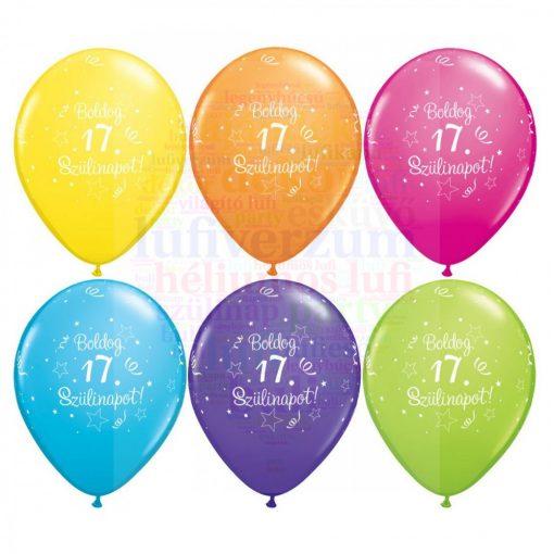 Boldog 17. születésnapot gumi lufi - 28 cm