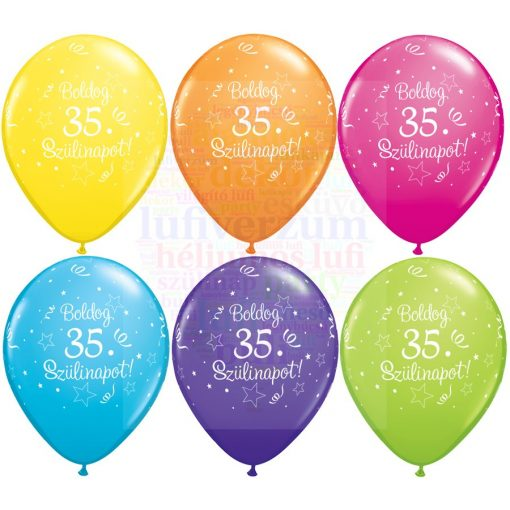Boldog 35. születésnapot gumi lufi - 28 cm