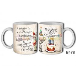 Boldog 60. szülinapot! – Születésnapi bögre