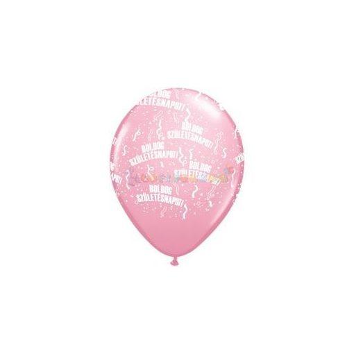 28 cm-es Boldog Születésnapot Pink Lufi  darabra