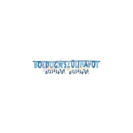 Boldog Szülinapot! Kék Fiús Számozható Betűfüzér - 2,4 m