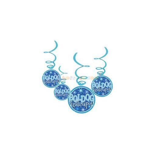Boldog Szülinapot! Kék Fiús Parti Függődekoráció - 6 db-os