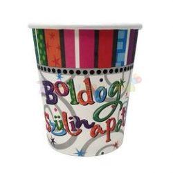 Boldog Szülinapot Radiant Parti Pohár - 250 ml, 6 db-os