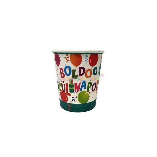 Boldog Szülinapot Jamboree Papír Party Pohár - 6 db-os
