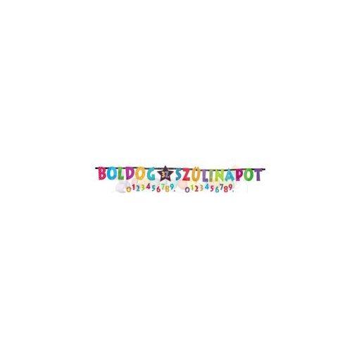 Boldog Szülinapot - Számozható Betűfüzér/ Banner - 2,4 m