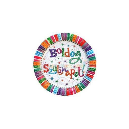 Boldog Szülinapot Radiant Parti Tányér, 23 cm-es, 6 db-os