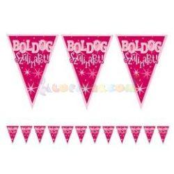 Boldog Szülinapot! Rózsaszín Lányos Zászlófüzér - 5 m