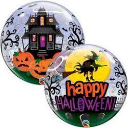 Boszorkányos Halloweenes Bubble Lufi