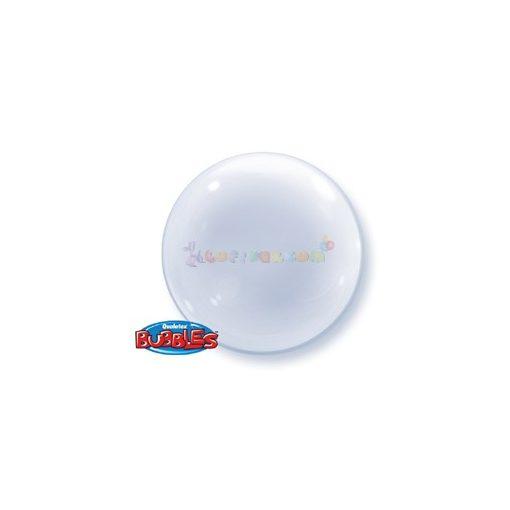 Átlátszó Deco Bubble Lufi 61 cm