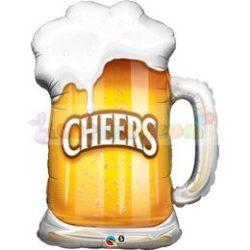 Cheers! Söröskorsó fólia léggömb - 89 cm