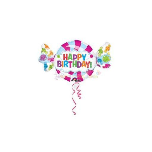 Cukorka Happy Birthday Szülinapi Fólia Lufi