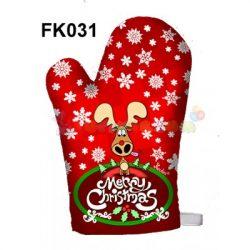 Karácsonyi főzőkesztyű – Merry Christmas szarvas – Karácsonyi ajándékok