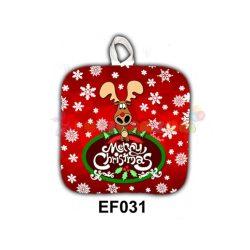 Karácsonyi edényfogó – Merry Christmas szarvas – Karácsonyi ajándék ötletek