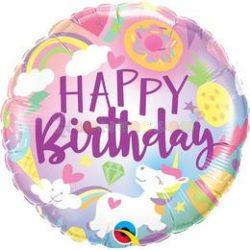 Egyszarvú Unikornis Születésnapi Fólia Lufi