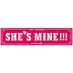 She's mine! Rendszámtábla