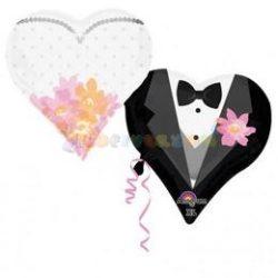 Esküvői Szív Fólia Lufi