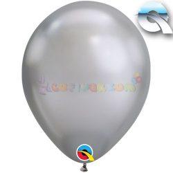 Ezüst KRÓM hatású léggömb 28 cm-es