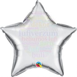 Ezüst Csillag Fólia Lufi