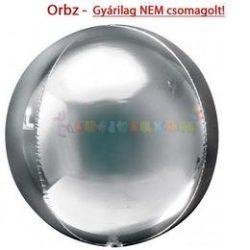 Ezüst Orbz fólia léggömb