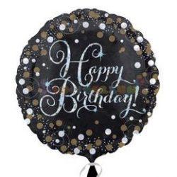 Happy Birthday Sparkling Születésnapi Fólia Lufi 45 cm