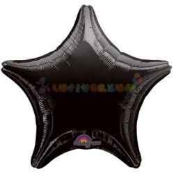 Fekete Csillag Fólia Lufi