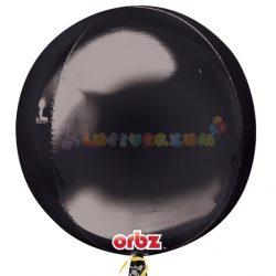 Fekete Orbz fólia léggömb