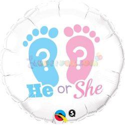 Fiú vagy lány? Fólia Lufi Babaszületésre 45 cm