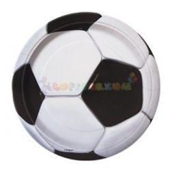 3-D Soccer - Foci Parti Tányér - 23 cm, 8 db-os