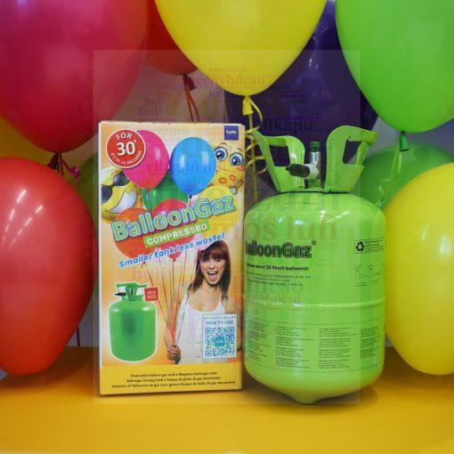 Eldobható Hélium Box 30 db 23 cm-es latex léggömb felfújásához