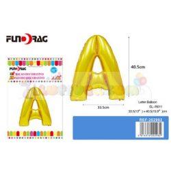 Arany színű, betű alakú fólia léggömb - A