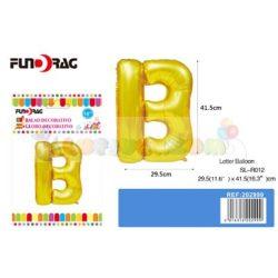 Arany színű, betű alakú fólia léggömb - B