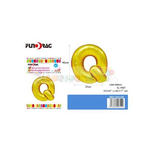 Arany színű, betű alakú fólia léggömb - Q