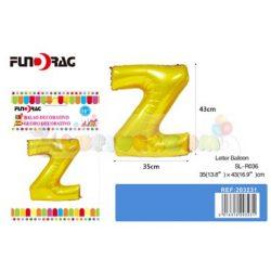 Arany színű, betű alakú fólia léggömb - Z