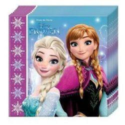 Frozen - Jégvarázs Északi Fény Parti Szalvéta - 33 cm x 33 cm, 20 db-os